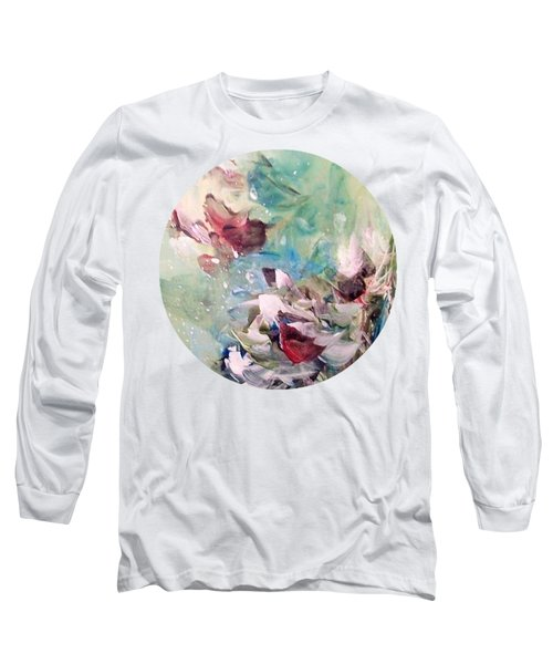 Red Birds In Winter Long Sleeve T-Shirt
