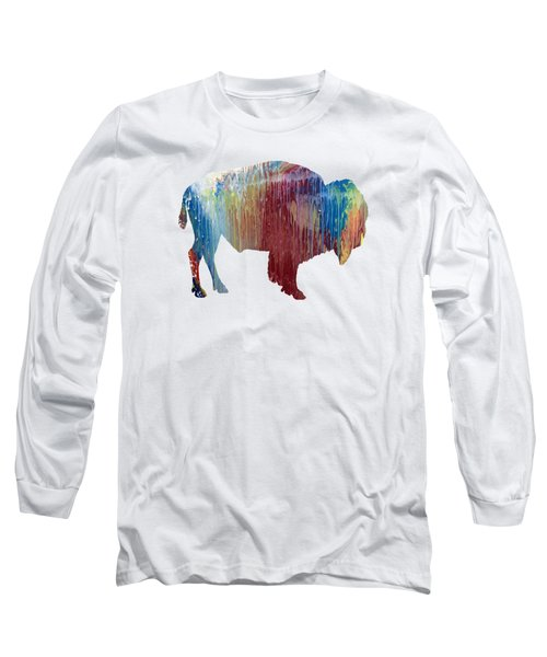 Red Bison Long Sleeve T-Shirt
