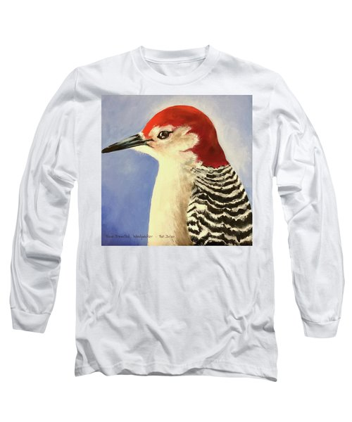Red Breasted Woodpecker Two Long Sleeve T-Shirt