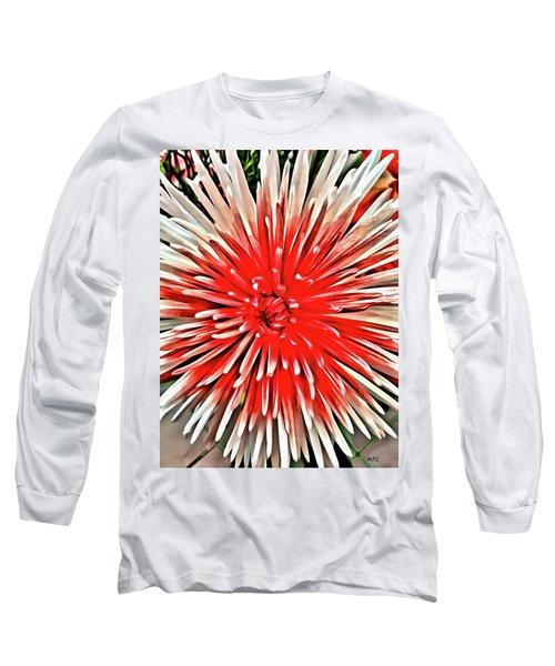 Red Burst Long Sleeve T-Shirt
