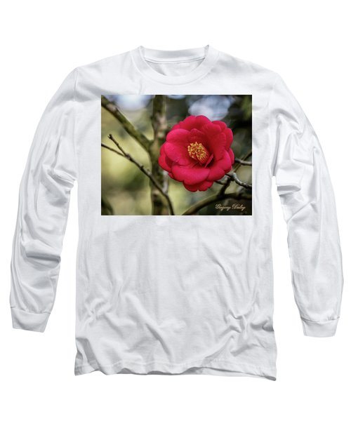 Red Camelia 05 Long Sleeve T-Shirt by Gregory Daley  PPSA