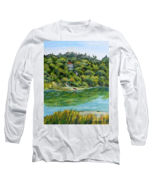Red Canoe Long Sleeve T-Shirt by William Reed