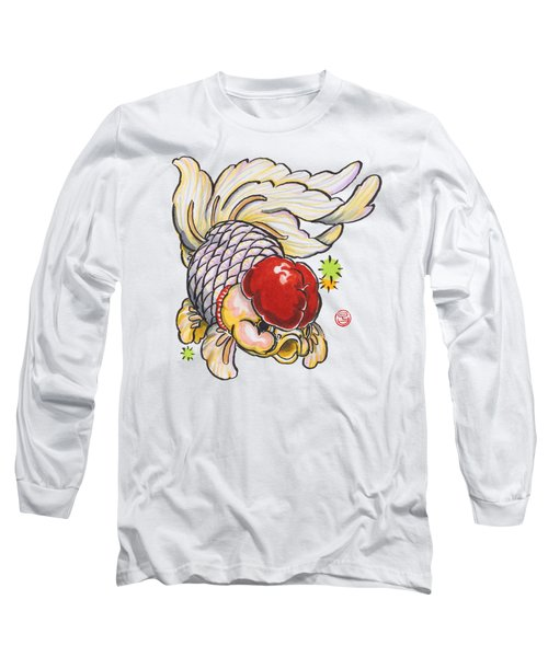Red Cap Mixed Ranchu Long Sleeve T-Shirt by Shih Chang Yang