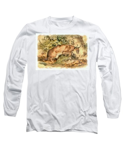 Red Caracal Long Sleeve T-Shirt by Sergey Lukashin
