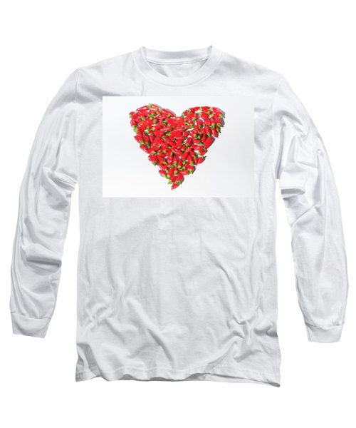 Red Chillie Heart II Long Sleeve T-Shirt