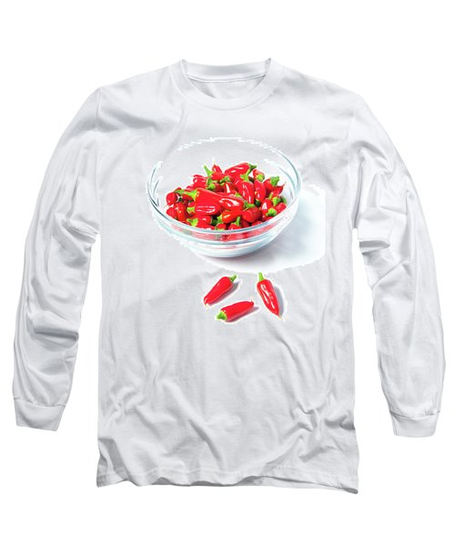 Red Chillies In A Bowl II Long Sleeve T-Shirt