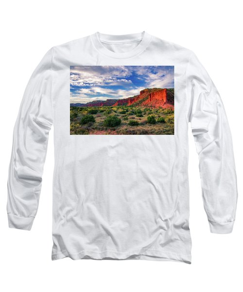 Red Cliffs Of Caprock Canyon Long Sleeve T-Shirt