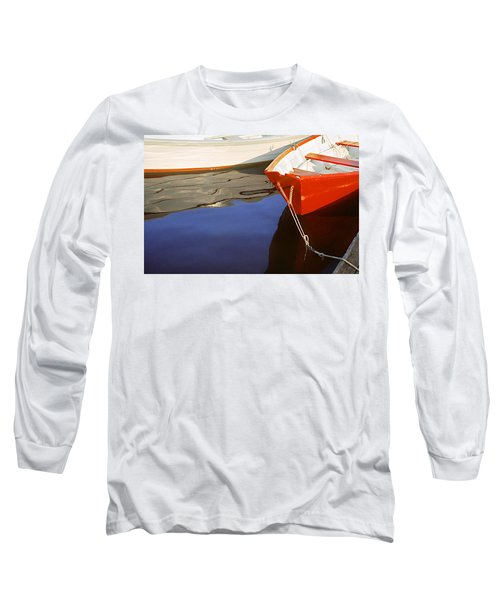 Long Sleeve T-Shirt featuring the photograph Red Dory Photo by Peter J Sucy