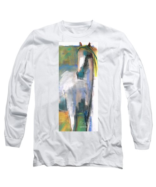 Long Sleeve T-Shirt featuring the painting Red Ears by Frances Marino