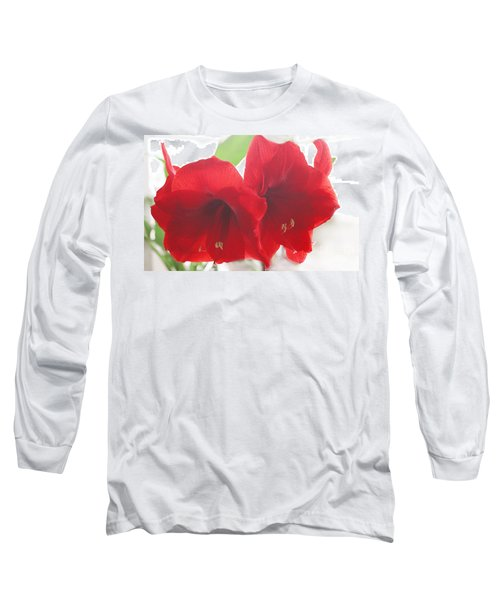 Long Sleeve T-Shirt featuring the photograph Amaryllis by Rebecca Harman