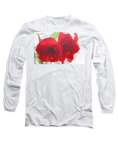 Amaryllis Long Sleeve T-Shirt by Rebecca Harman