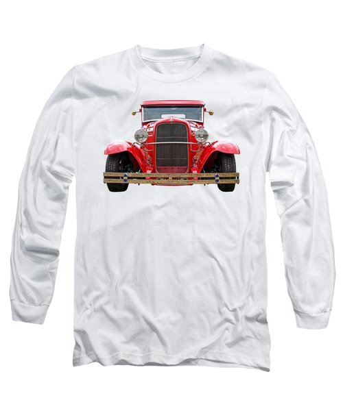 Red Ford Coupe Head On Long Sleeve T-Shirt