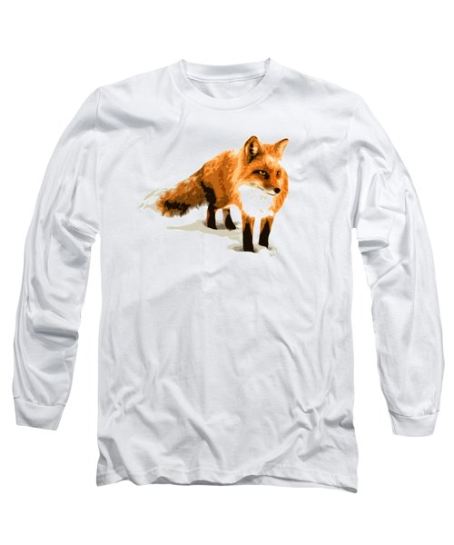 Red Fox In Winter Long Sleeve T-Shirt