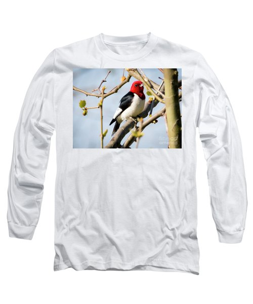 Long Sleeve T-Shirt featuring the photograph Red-headed Woodpecker At A Glace  by Ricky L Jones
