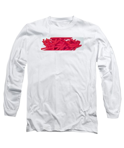Red Licorice  Long Sleeve T-Shirt by Martin Cline