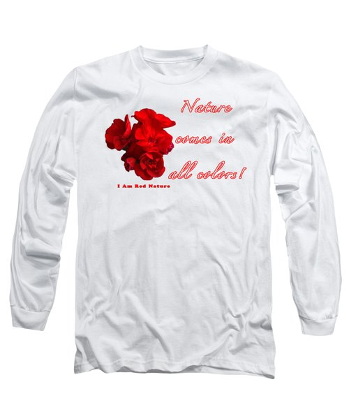 Red Nature Long Sleeve T-Shirt