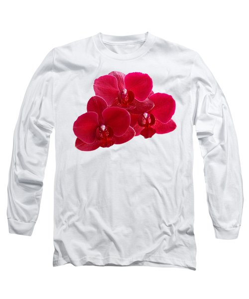 Red Orchid Trio Long Sleeve T-Shirt