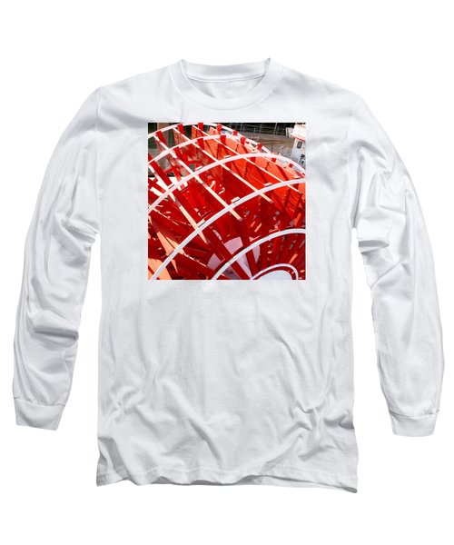 Red Paddle Wheel Long Sleeve T-Shirt