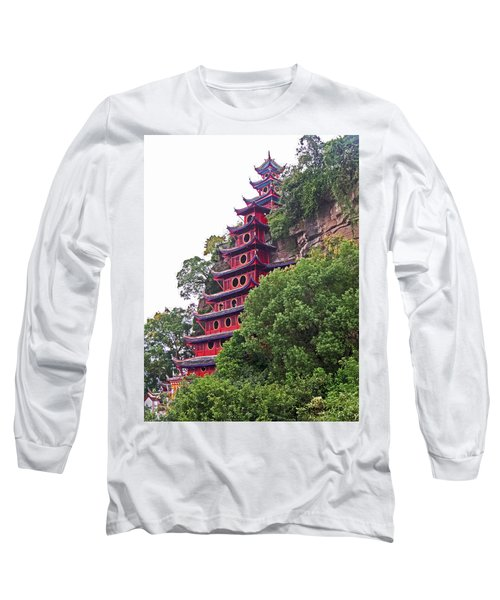 Red Pagoda Long Sleeve T-Shirt