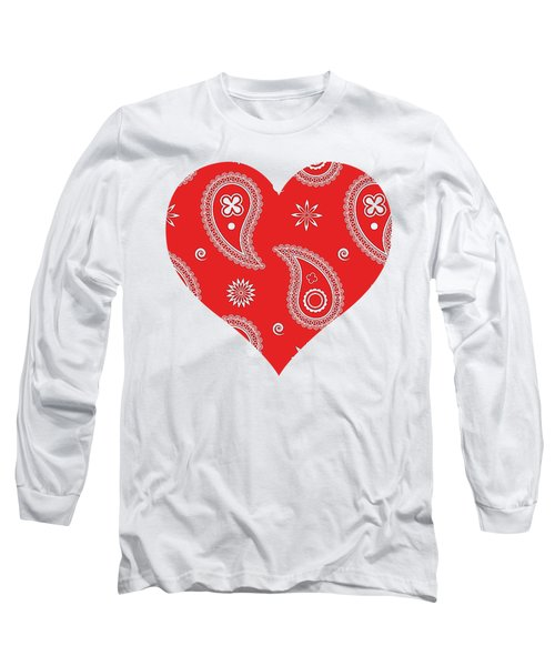 Red Paisley Long Sleeve T-Shirt