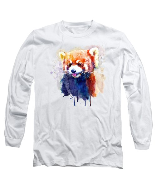 Red Panda Portrait Long Sleeve T-Shirt