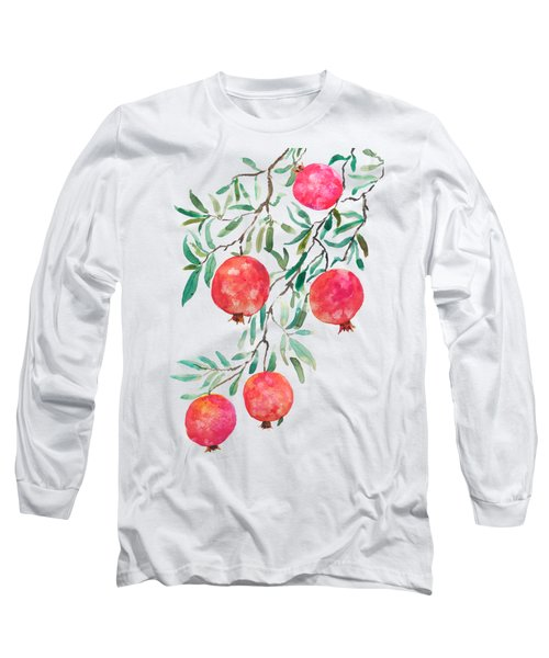 Red Pomegranate Long Sleeve T-Shirt