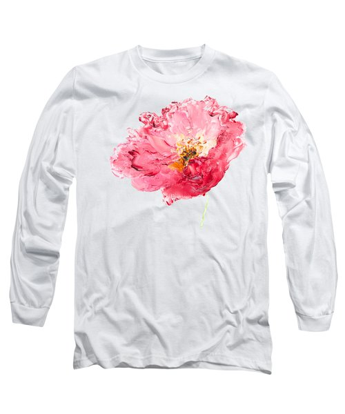 Red Poppy Painting Long Sleeve T-Shirt by Jan Matson