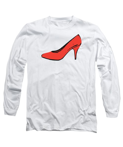Red Pump Womans Shoe Tee Long Sleeve T-Shirt