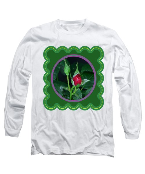 Red Rose Bud Flower Floral Posters Photography And Graphic Fusion Art Navinjoshi Fineartamerica Pixe Long Sleeve T-Shirt