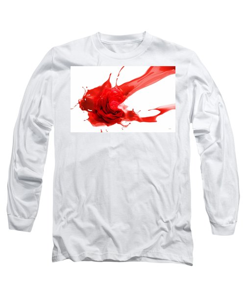 Red Rose Long Sleeve T-Shirt by Gabriella Weninger - David