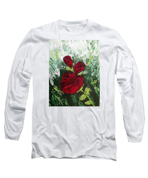 Red Roses In Bloom Long Sleeve T-Shirt