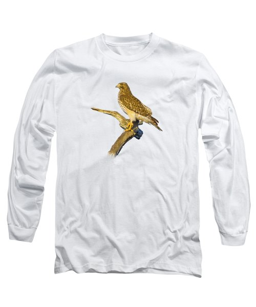 Red Shouldered Hawk Perch Long Sleeve T-Shirt