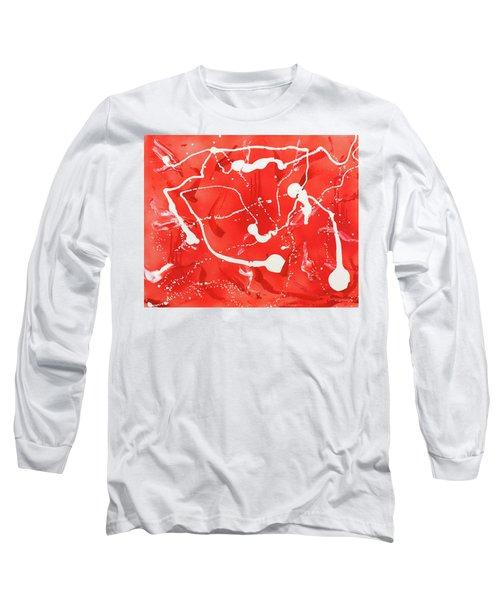 Red Spill Long Sleeve T-Shirt
