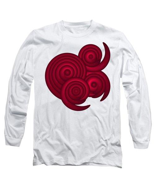 Red Spirals Long Sleeve T-Shirt by Frank Tschakert