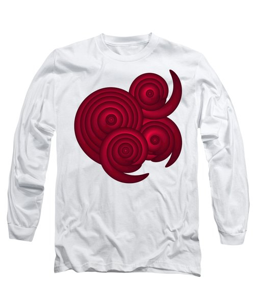 Red Spirals Long Sleeve T-Shirt