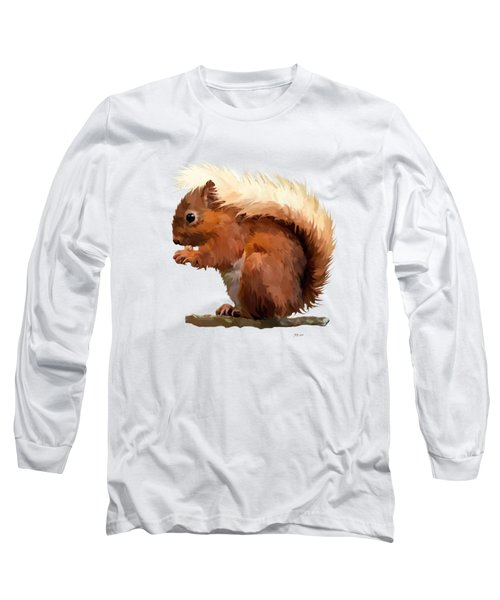Red Squirrel Long Sleeve T-Shirt by Bamalam  Photography