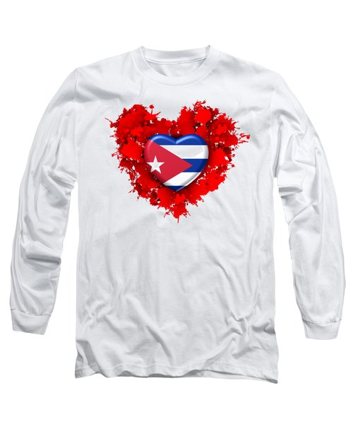 Red Stain Love To Cuba Long Sleeve T-Shirt