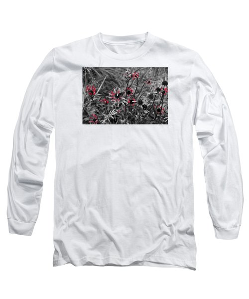 Red Streaks Long Sleeve T-Shirt by Deborah  Crew-Johnson