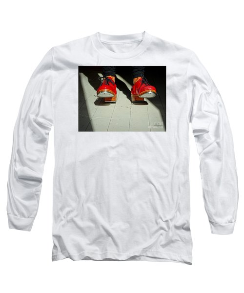 Red Tap Shoes Long Sleeve T-Shirt