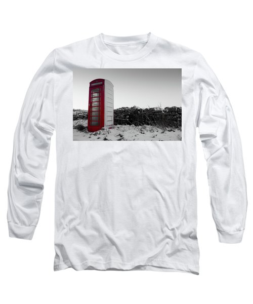 Red Telephone Box In The Snow Vi Long Sleeve T-Shirt