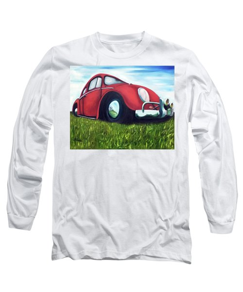 Red Vw Long Sleeve T-Shirt