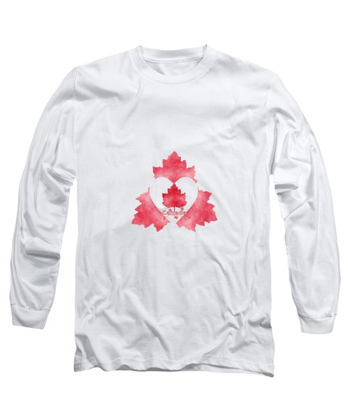 Red White And Canadian Long Sleeve T-Shirt