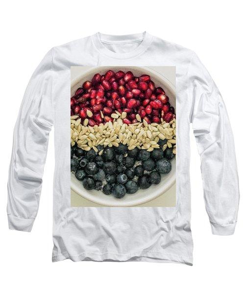 Red White Blue Power Breakfast Long Sleeve T-Shirt