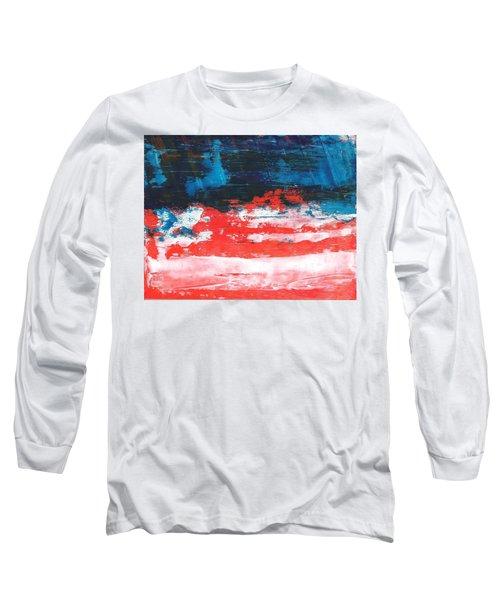 Red White Blue Scene Long Sleeve T-Shirt