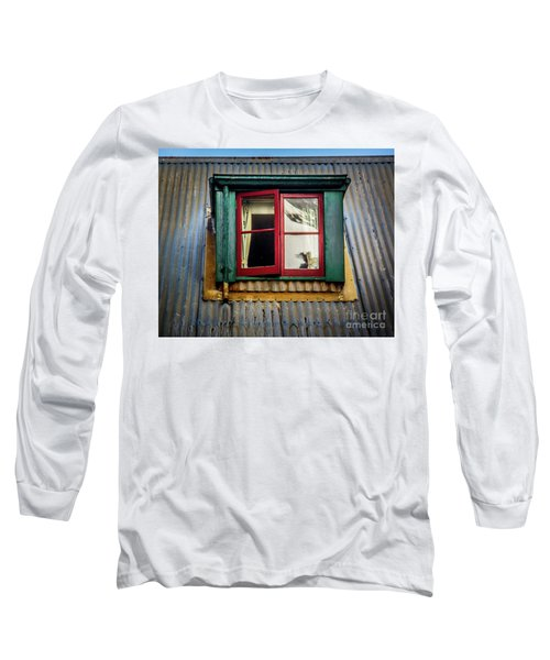 Long Sleeve T-Shirt featuring the photograph Red Windows by Perry Webster