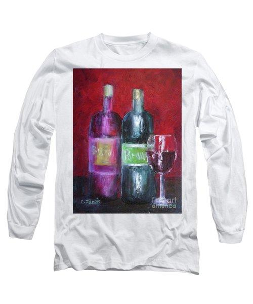 Red Wine Art Long Sleeve T-Shirt