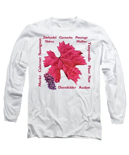 Red Wines Lettering Long Sleeve T-Shirt