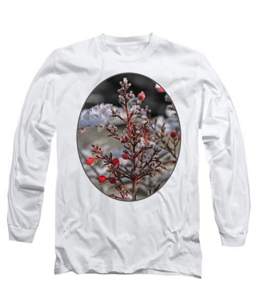 Red Winter Berries Of Nandia Domestica Long Sleeve T-Shirt