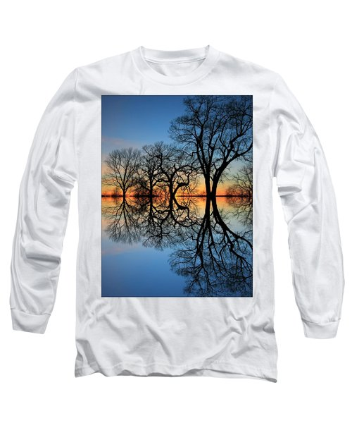 Long Sleeve T-Shirt featuring the photograph Reflecting On Tonight by Chris Berry