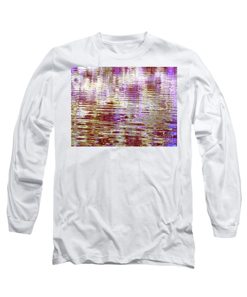 Reflecting Purple Water Long Sleeve T-Shirt